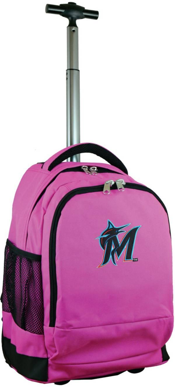 Mojo Miami Marlins Wheeled Premium Pink Backpack product image