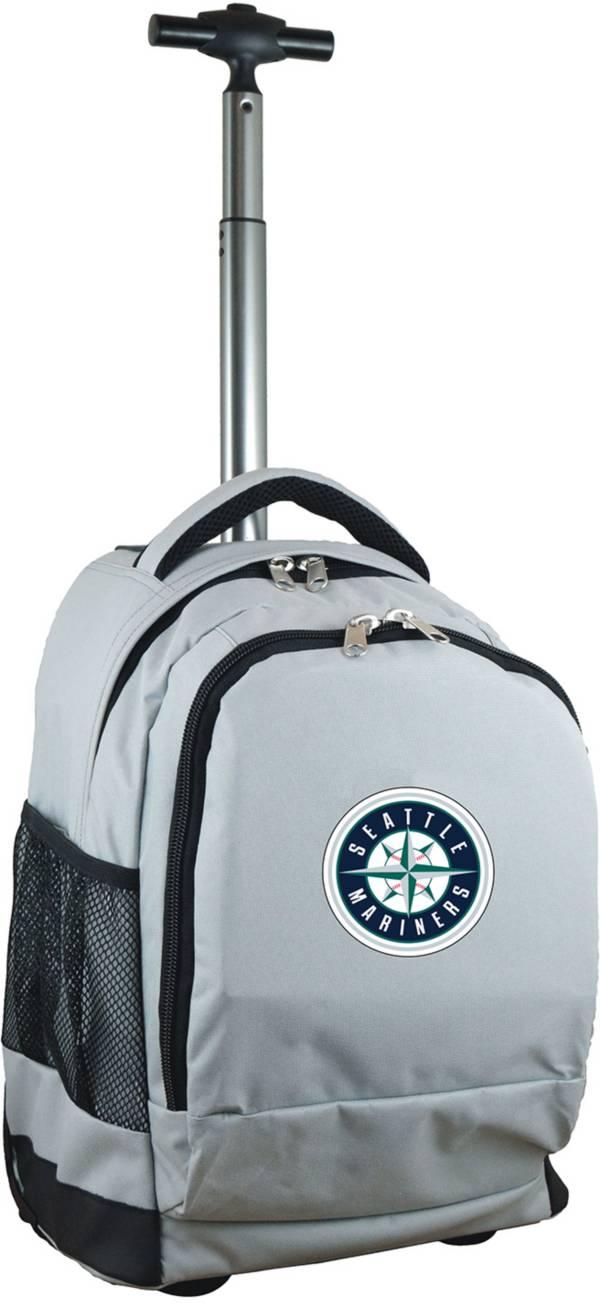 Mojo Seattle Mariners Wheeled Premium Grey Backpack product image