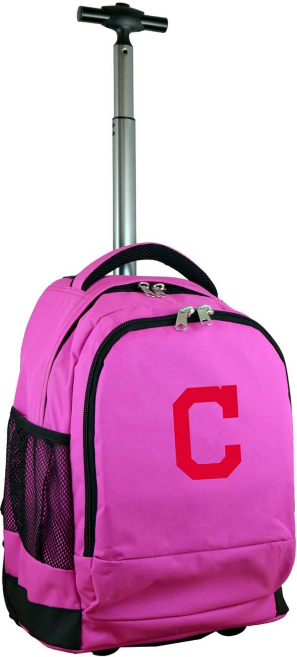 Mojo Cleveland Indians Wheeled Premium Pink Backpack product image