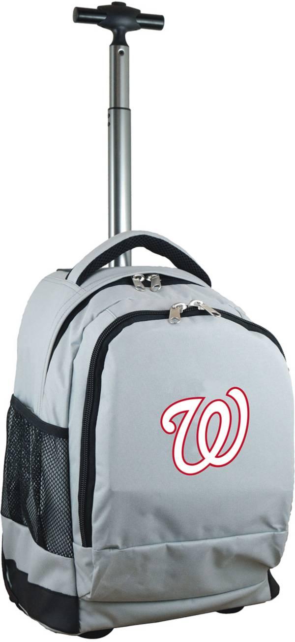 Mojo Washington Nationals Wheeled Premium Grey Backpack product image