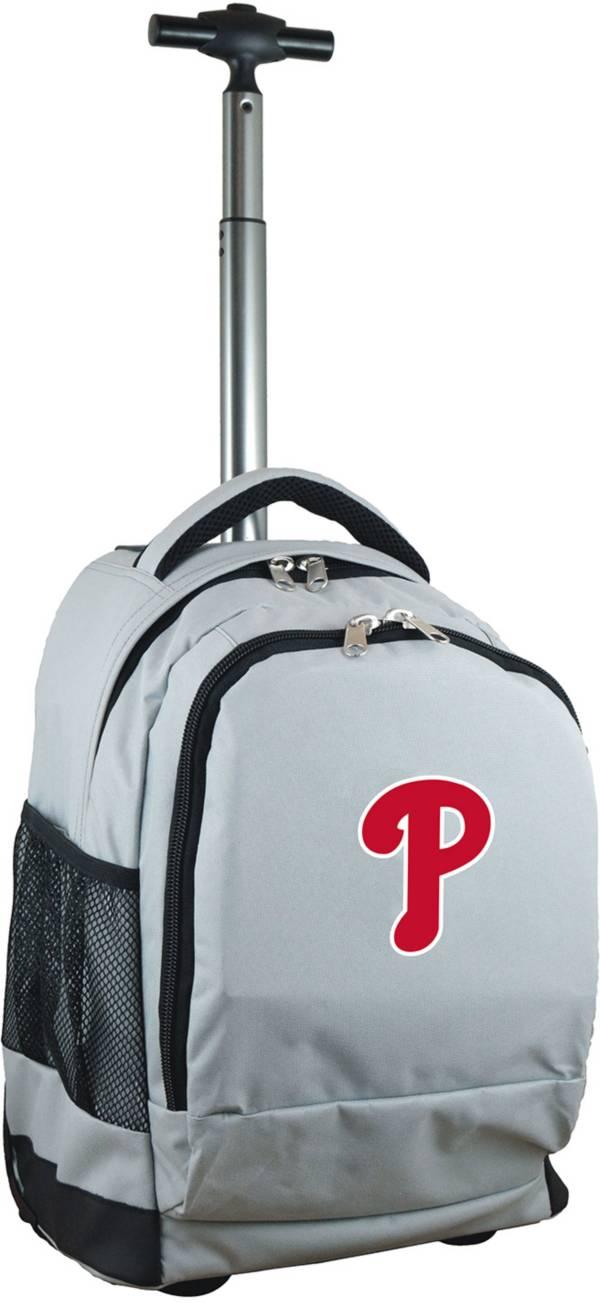 Mojo Philadelphia Phillies Wheeled Premium Grey Backpack product image