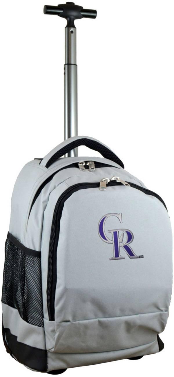 Mojo Colorado Rockies Wheeled Premium Grey Backpack product image