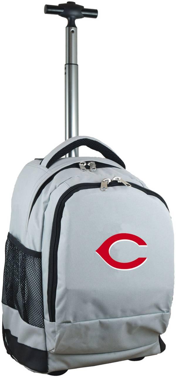 Mojo Cincinnati Reds Wheeled Premium Grey Backpack product image