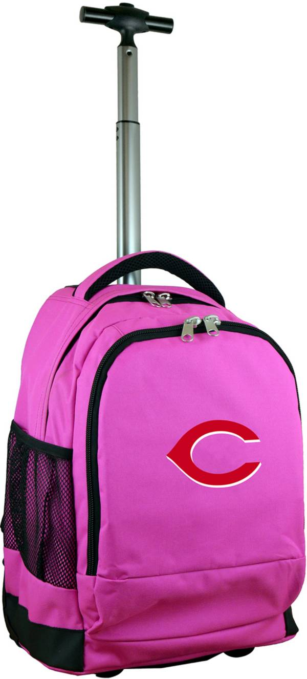 Mojo Cincinnati Reds Wheeled Premium Pink Backpack product image