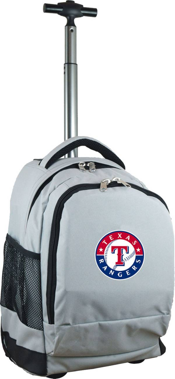 Mojo Texas Rangers Wheeled Premium Grey Backpack product image