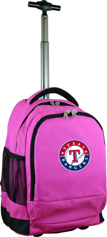Mojo Texas Rangers Wheeled Premium Pink Backpack product image