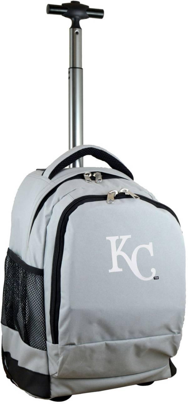 Mojo Kansas City Royals Wheeled Premium Grey Backpack product image