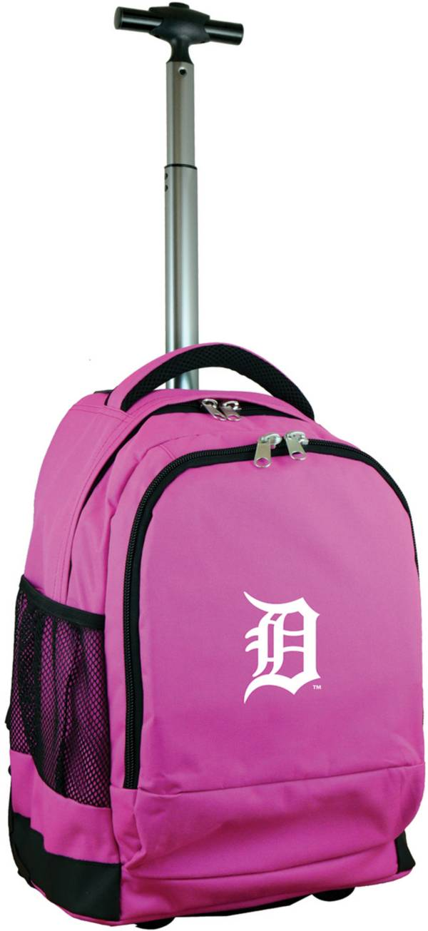 Mojo Detroit Tigers Wheeled Premium Pink Backpack product image