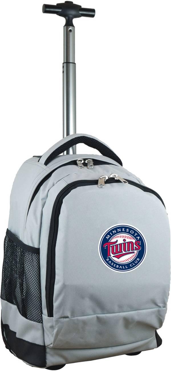 Mojo Minnesota Twins Wheeled Premium Grey Backpack product image
