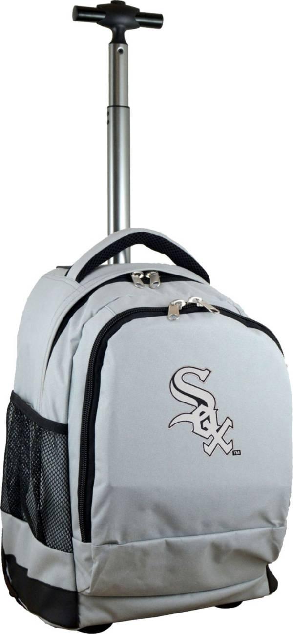 Mojo Chicago White Sox Wheeled Premium Grey Backpack product image