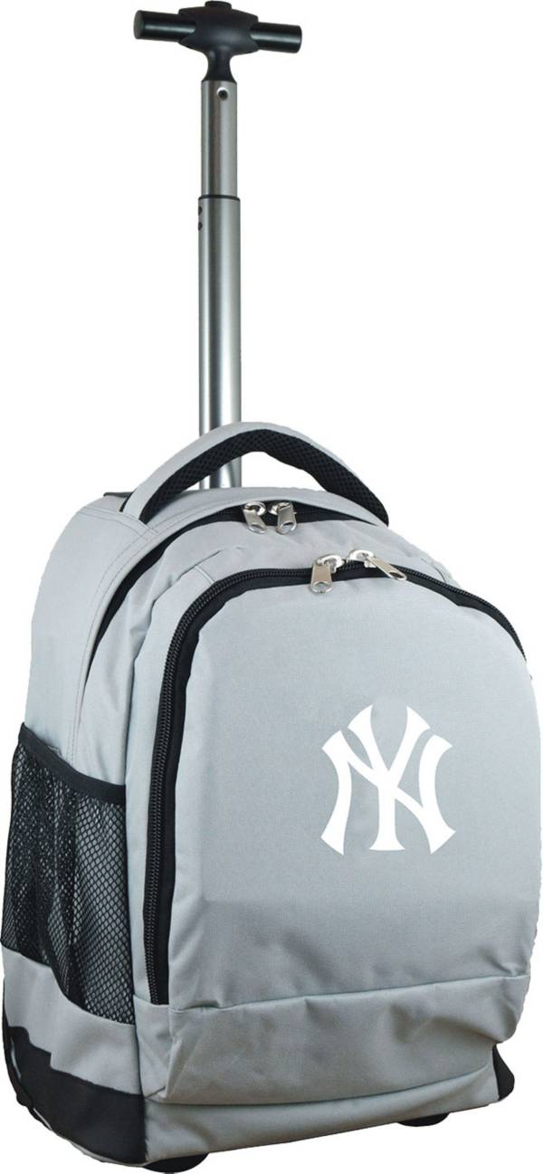 Mojo New York Yankees Wheeled Premium Grey Backpack product image