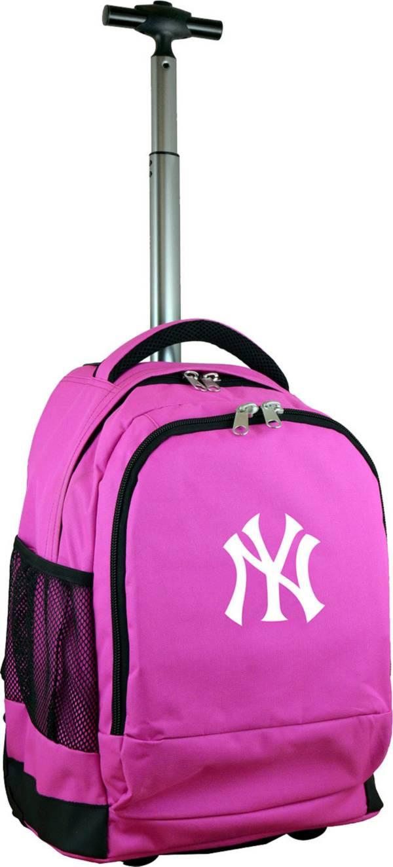 Mojo New York Yankees Wheeled Premium Pink Backpack product image