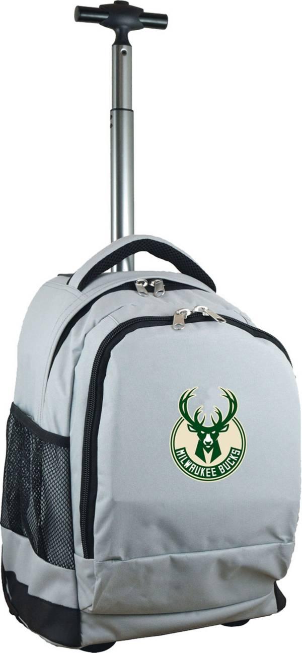 Mojo Milwaukee Bucks Wheeled Premium Grey Backpack product image