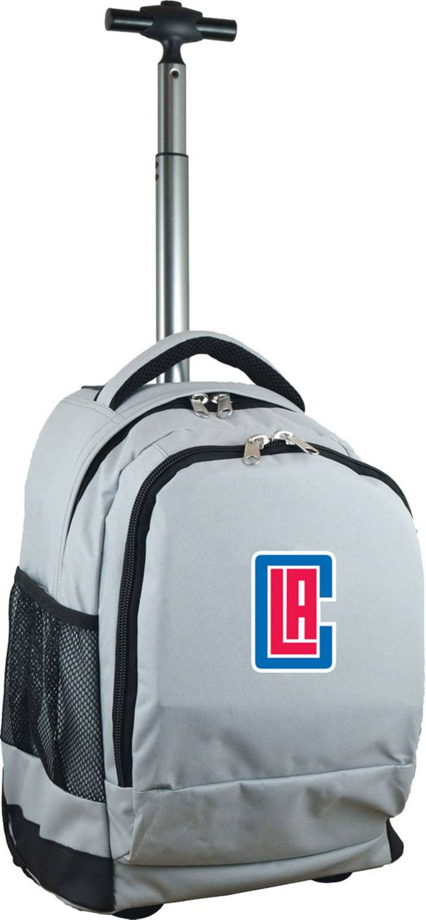Mojo Los Angeles Clippers Wheeled Premium Grey Backpack product image