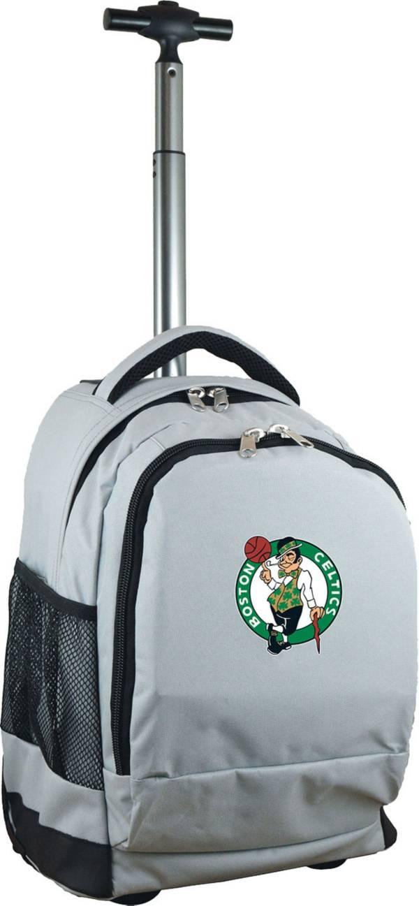 Mojo Boston Celtics Wheeled Premium Grey Backpack product image