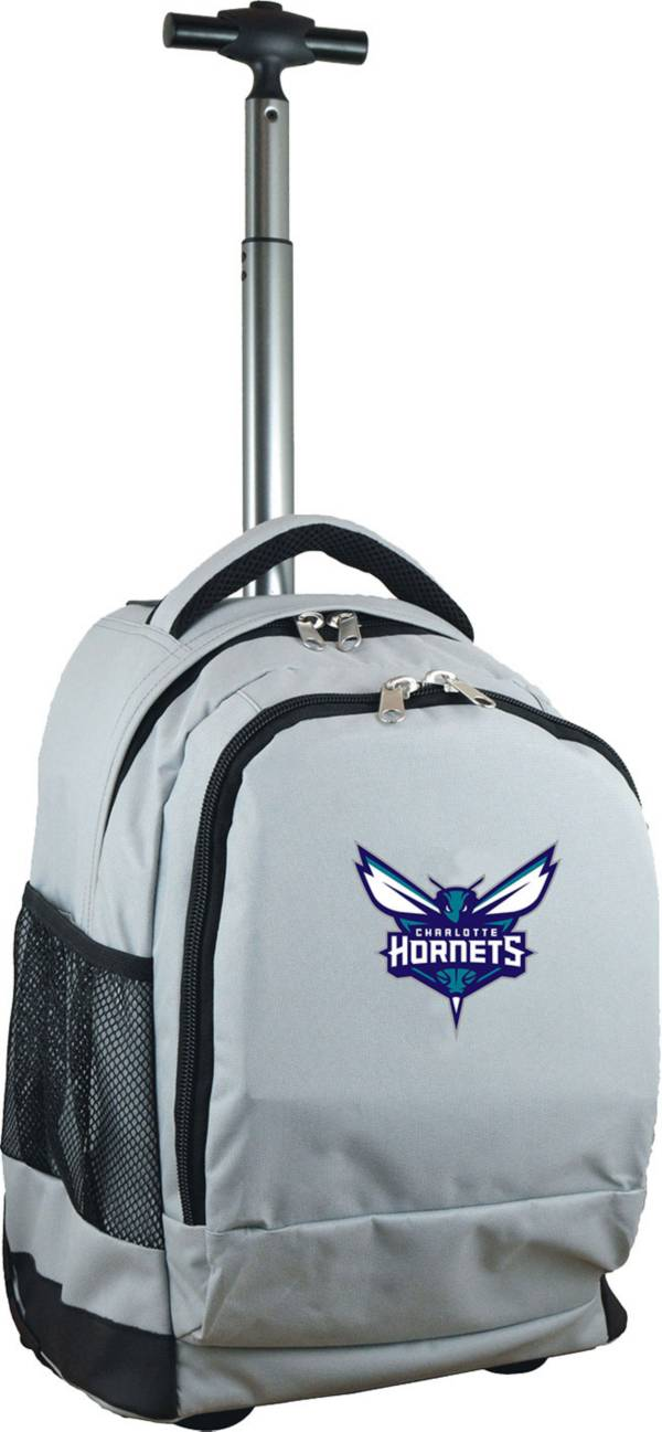 Mojo Charlotte Hornets Wheeled Premium Grey Backpack product image