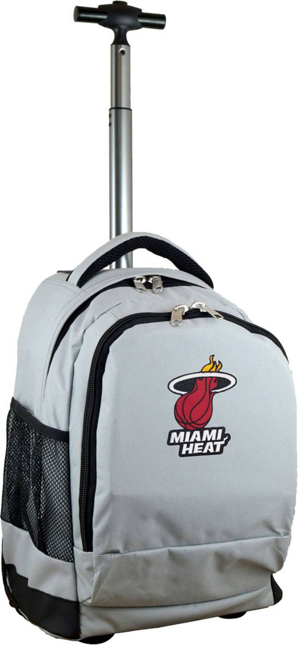 Mojo Miami Heat Wheeled Premium Grey Backpack product image