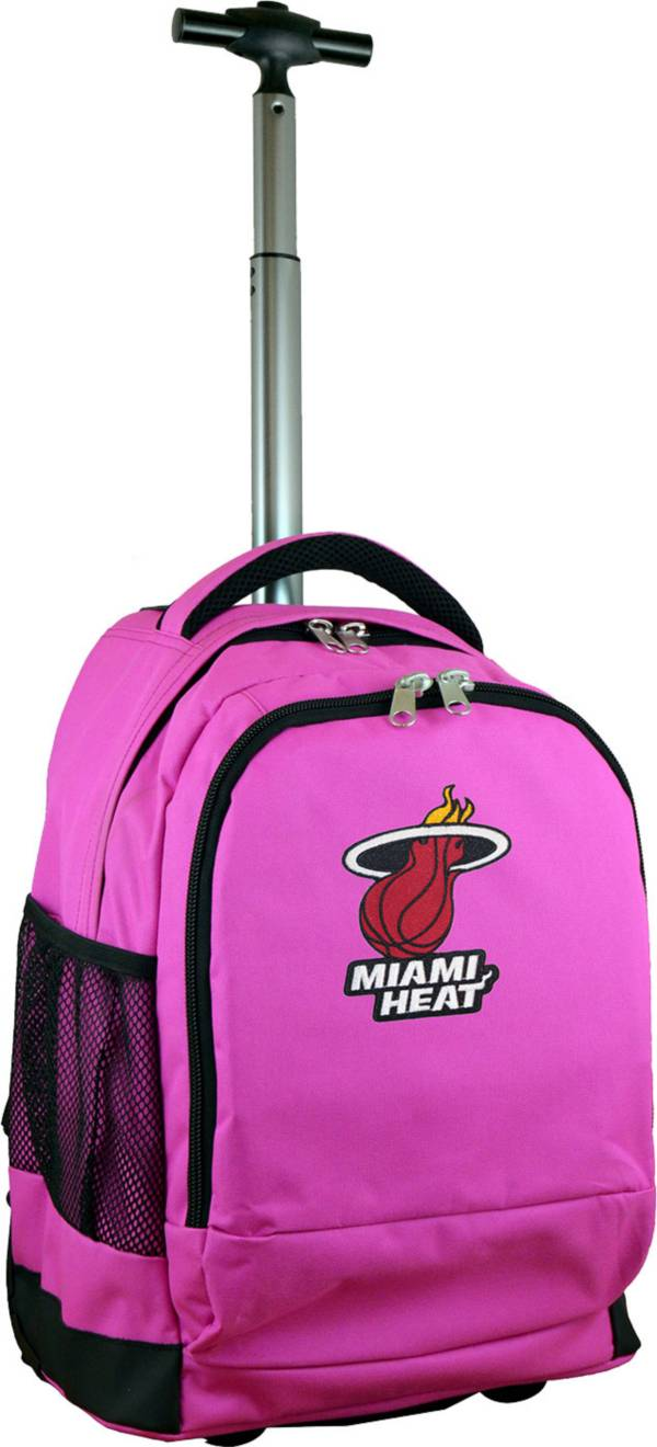 Mojo Miami Heat Wheeled Premium Pink Backpack product image
