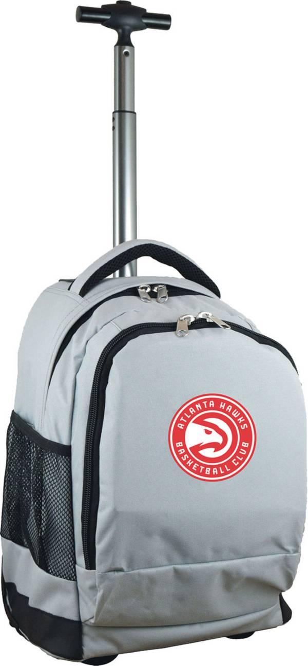 Mojo Atlanta Hawks Wheeled Premium Grey Backpack product image