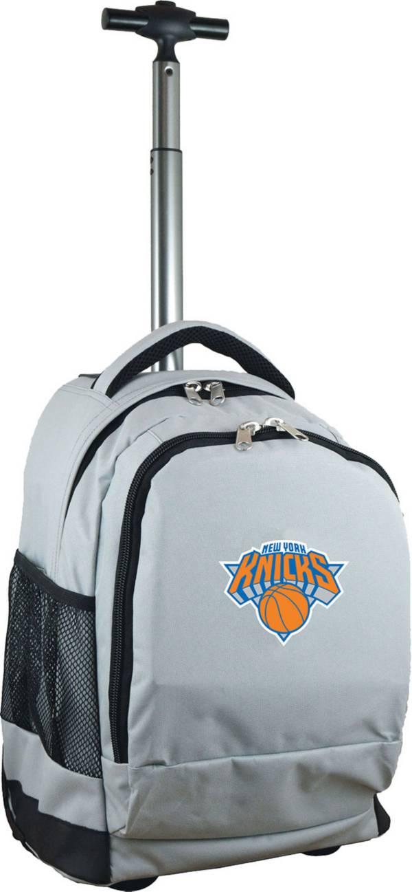 Mojo New York Knicks Wheeled Premium Grey Backpack product image