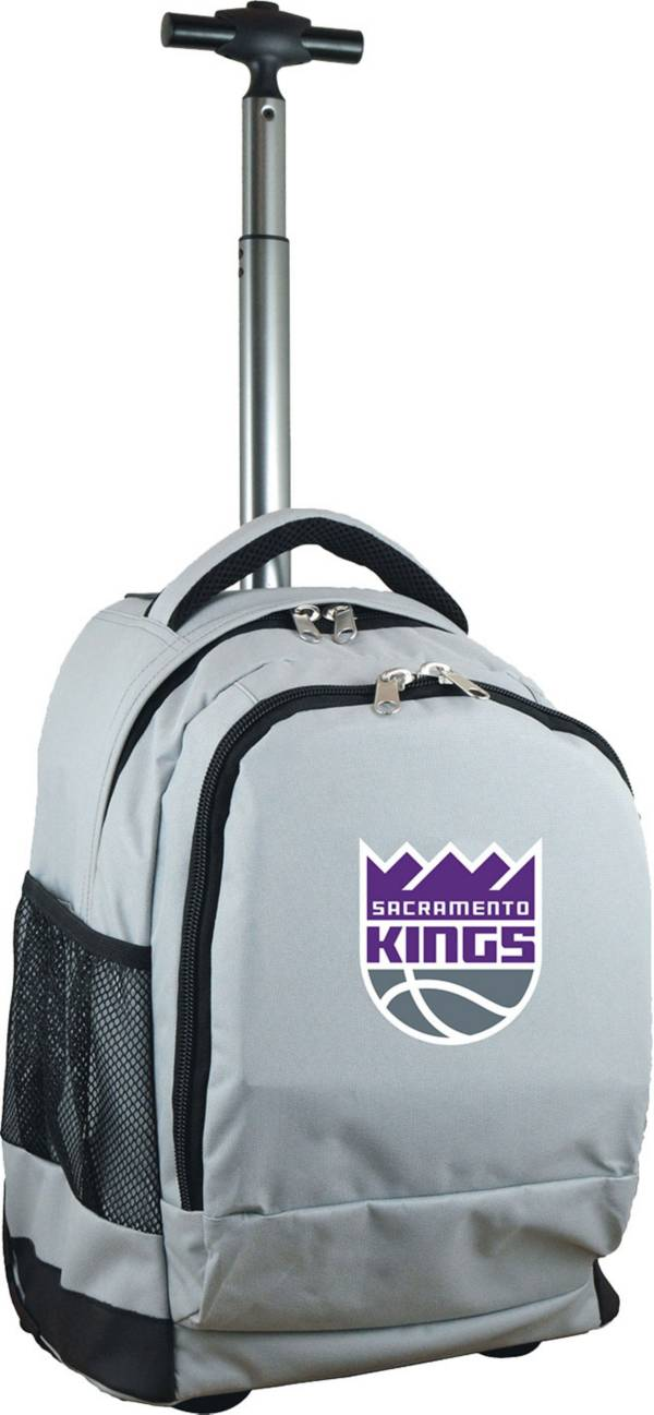 Mojo Sacramento Kings Wheeled Premium Grey Backpack product image