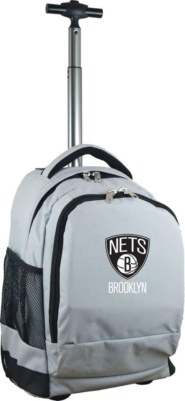 Mojo Brooklyn Nets Wheeled Premium Grey Backpack product image