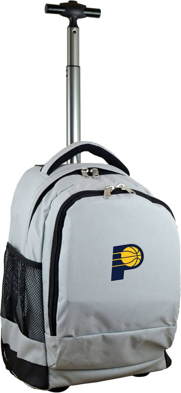 Mojo Indiana Pacers Wheeled Premium Grey Backpack product image