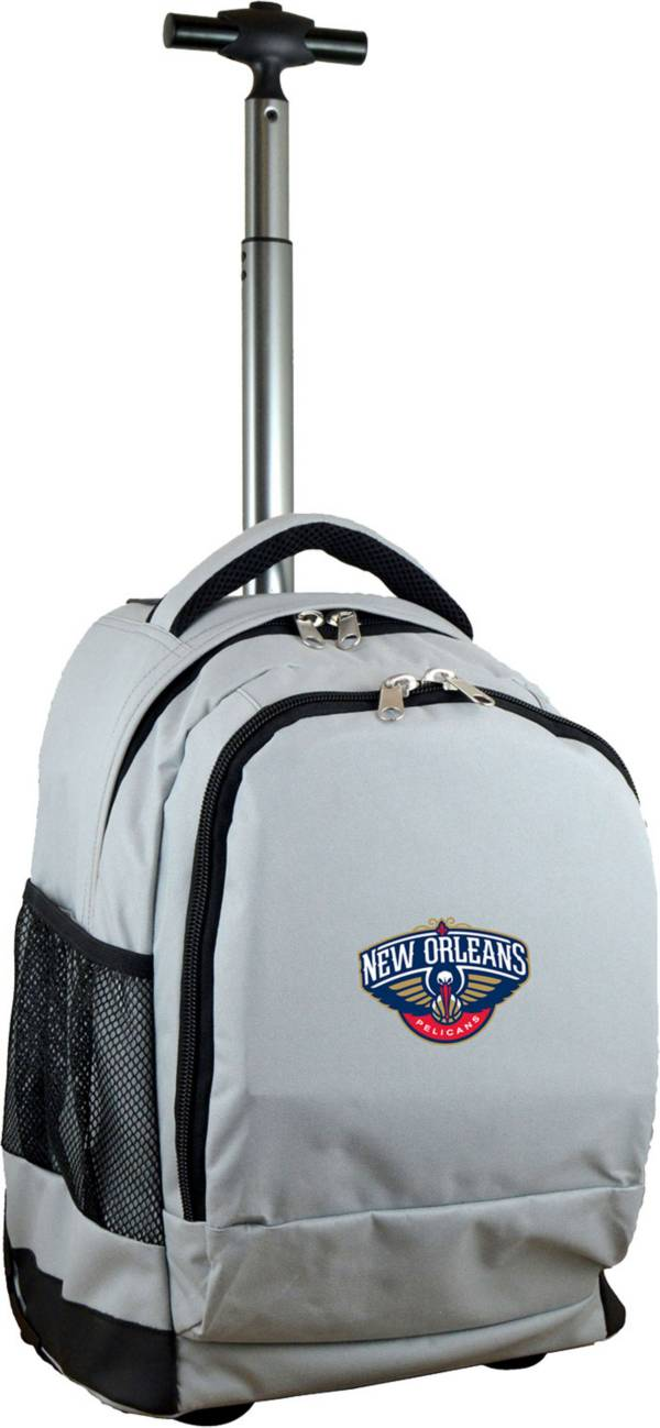Mojo New Orleans Pelicans Wheeled Premium Grey Backpack product image