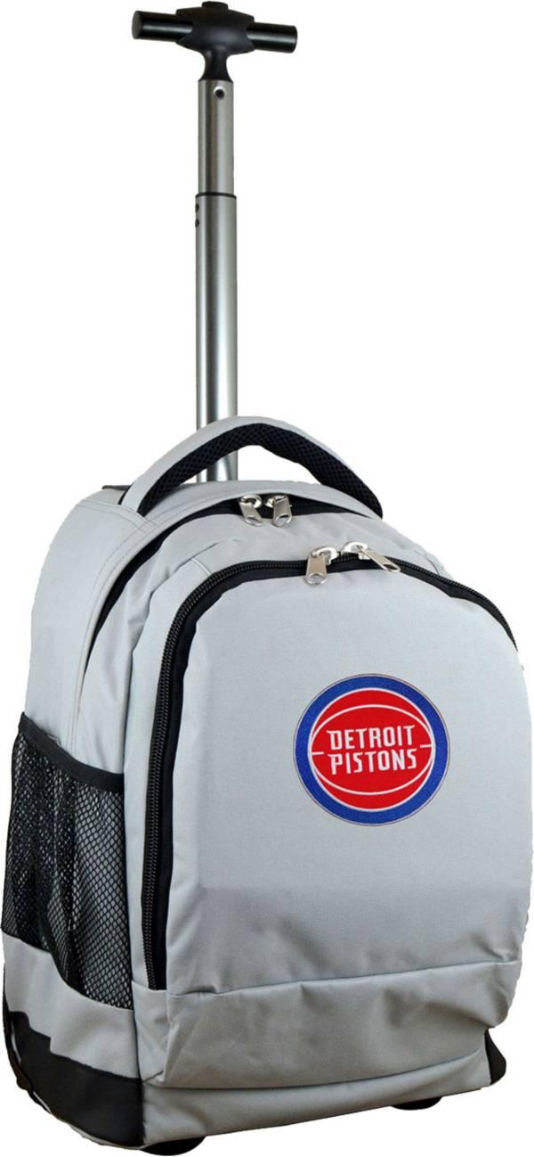 Mojo Detroit Pistons Wheeled Premium Grey Backpack product image
