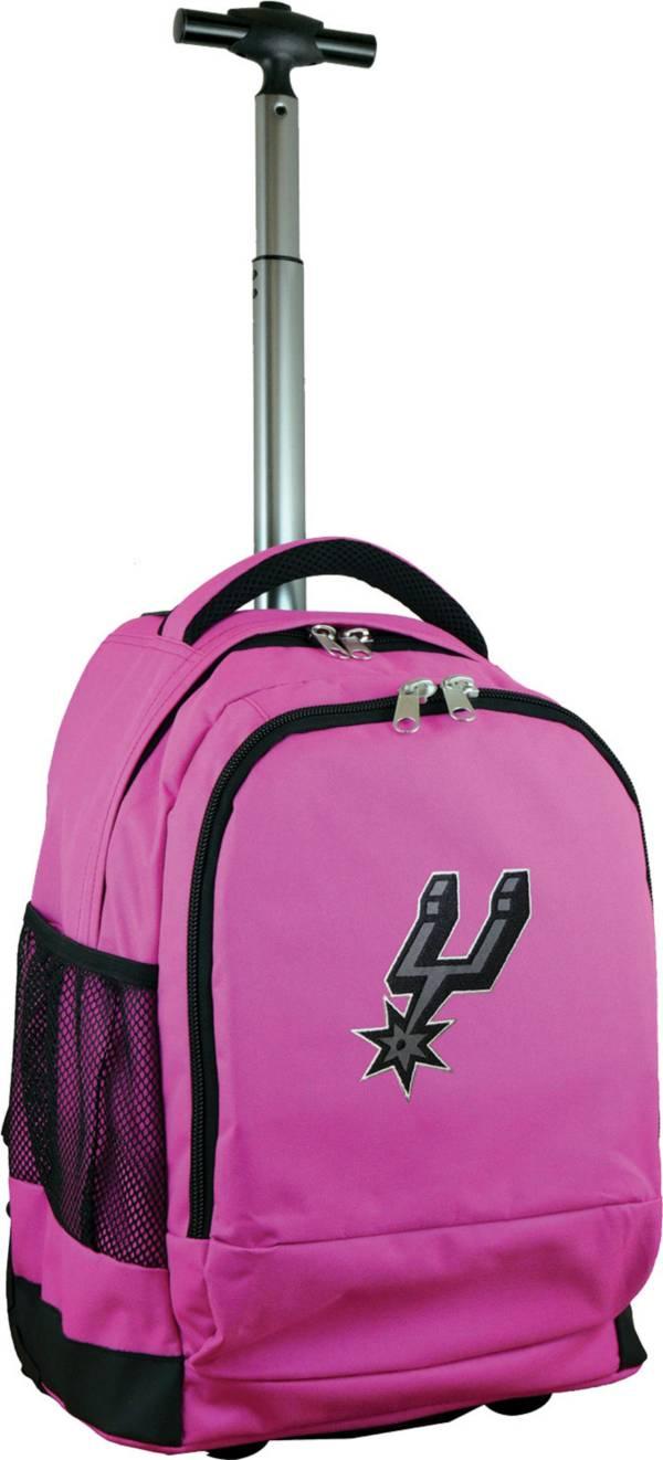 Mojo San Antonio Spurs Wheeled Premium Pink Backpack product image