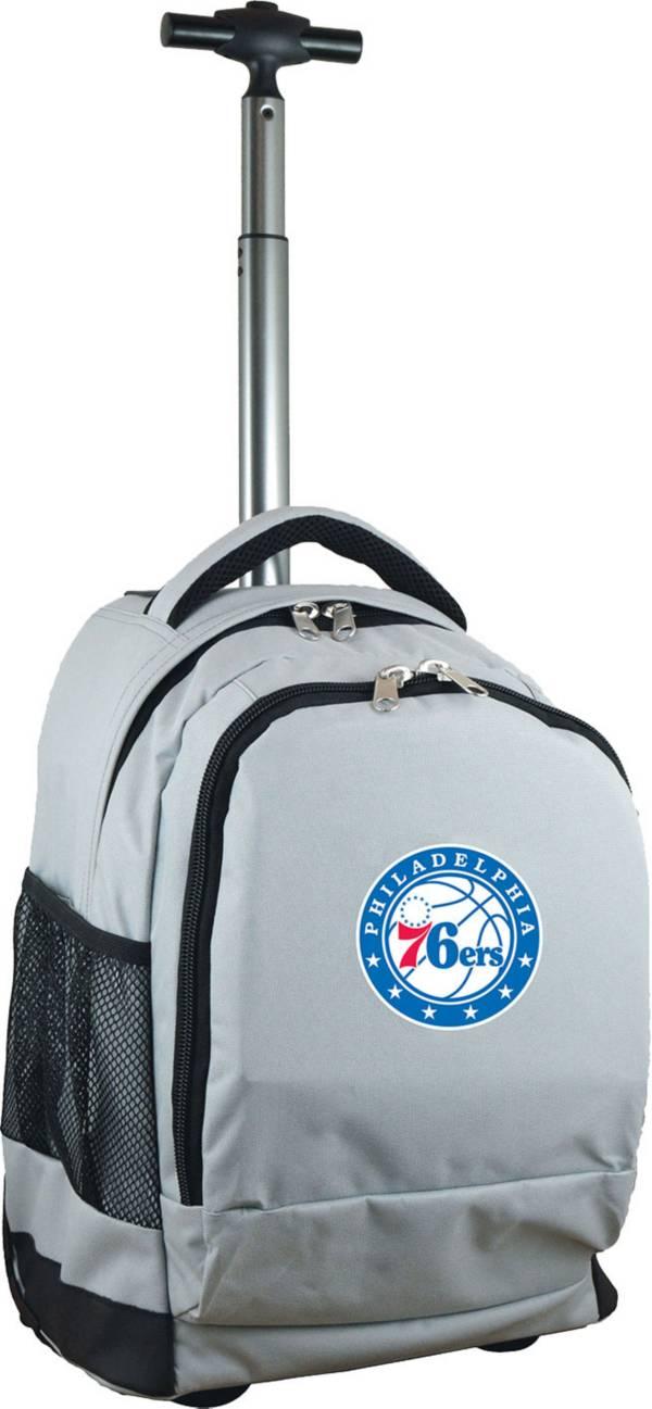 Mojo Philadelphia 76ers Wheeled Premium Grey Backpack product image