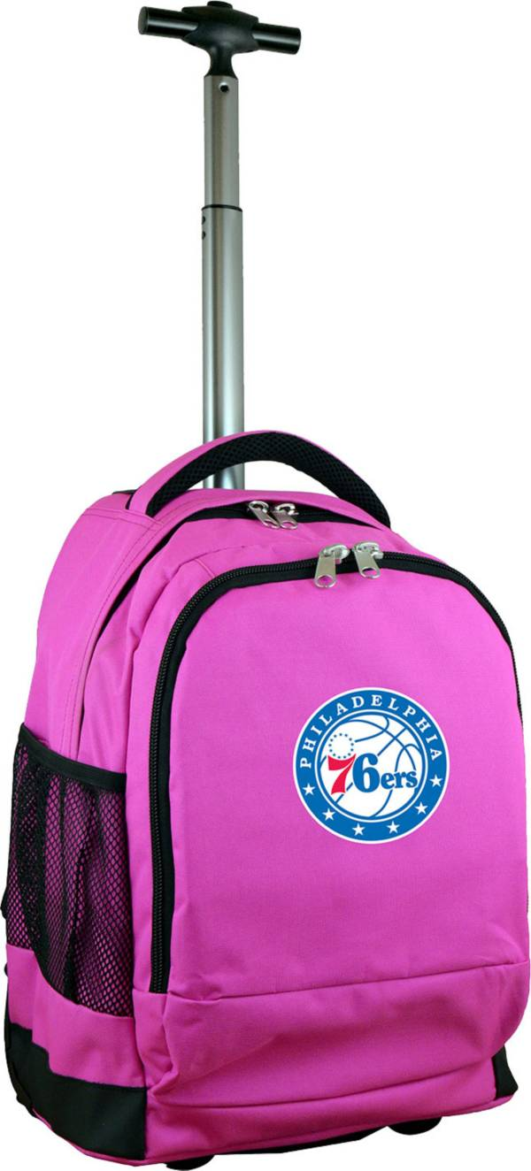 Mojo Philadelphia 76ers Wheeled Premium Pink Backpack product image