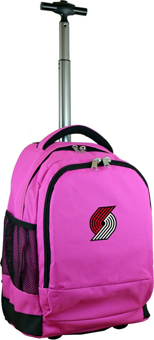 Mojo Portland Trail Blazers Wheeled Premium Pink Backpack product image