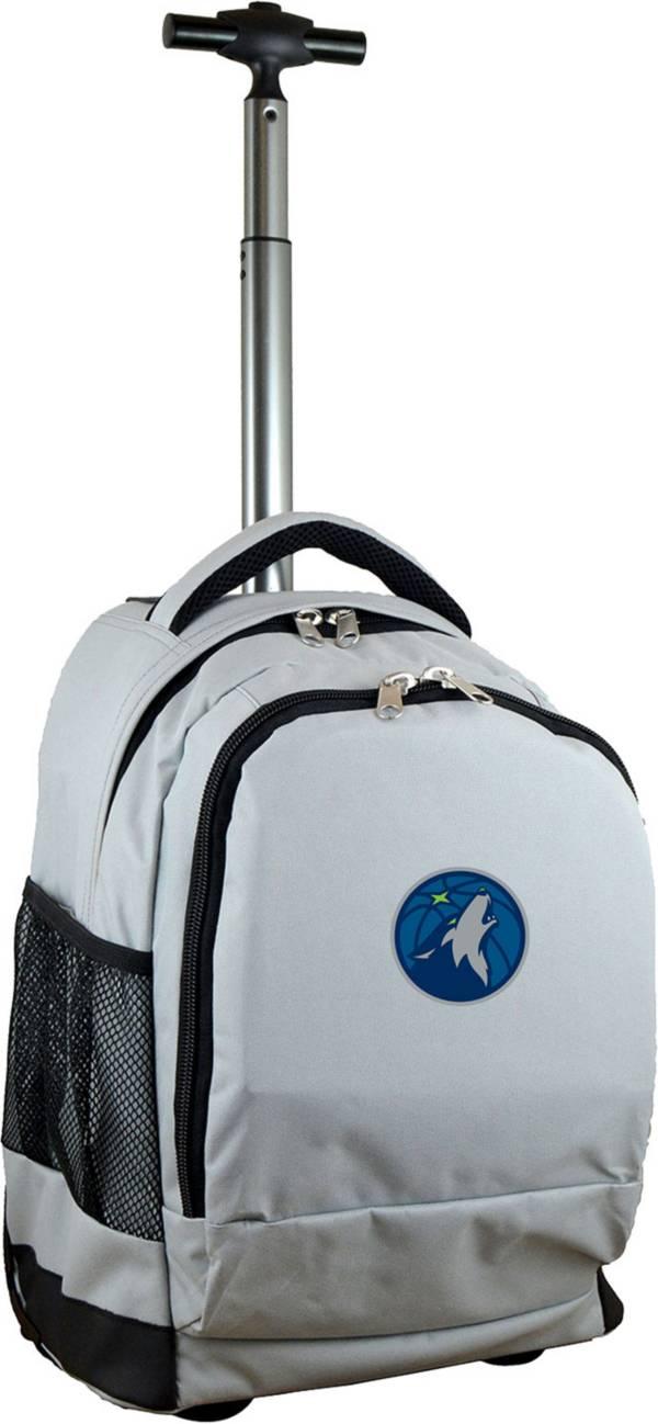 Mojo Minnesota Timberwolves Wheeled Premium Grey Backpack product image