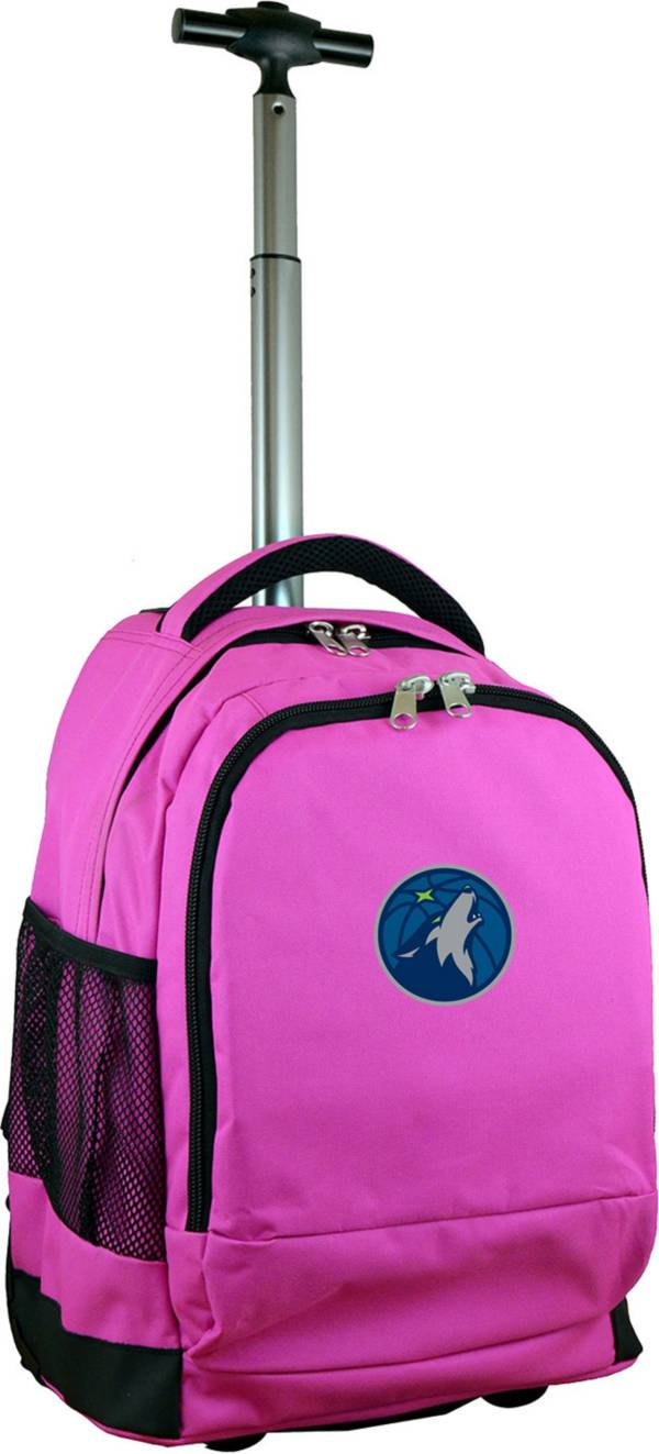 Mojo Minnesota Timberwolves Wheeled Premium Pink Backpack product image