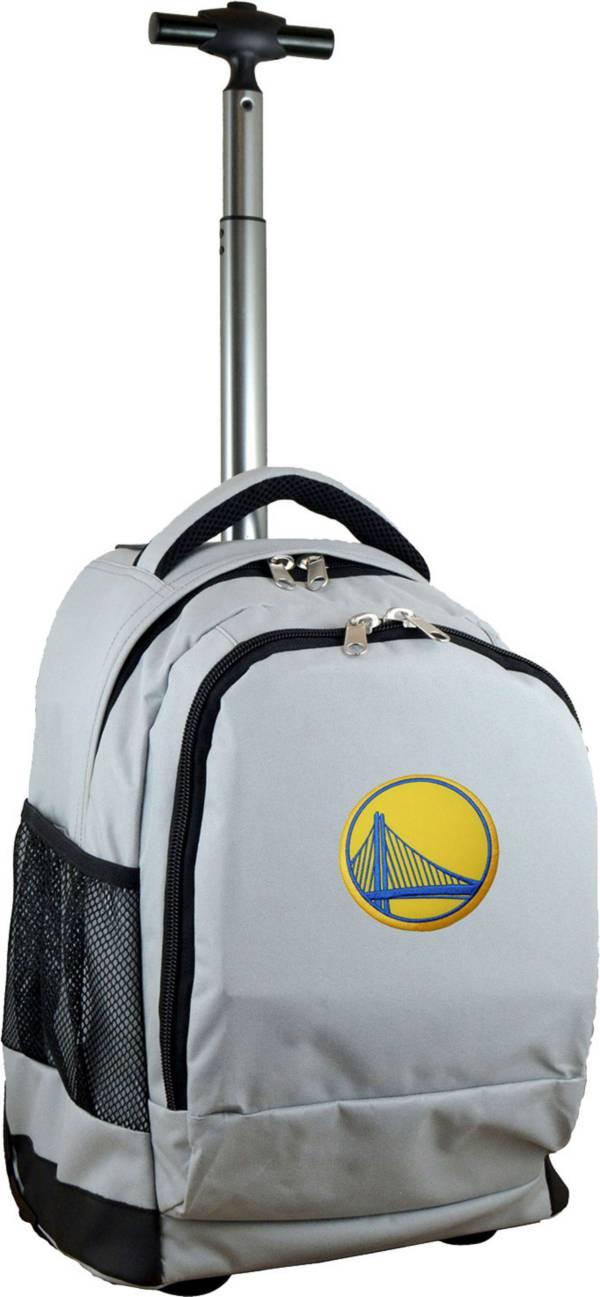 Mojo Golden State Warriors Wheeled Premium Grey Backpack product image