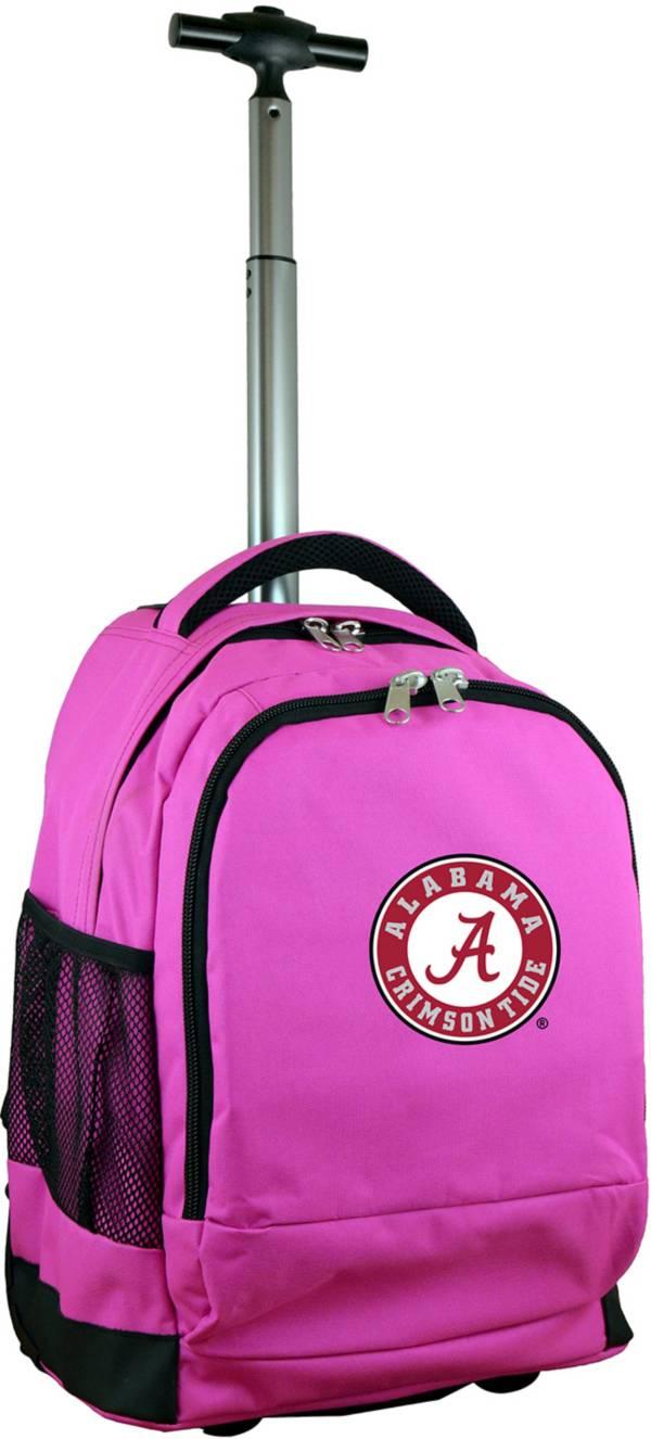 Mojo Alabama Crimson Tide Wheeled Premium Pink Backpack product image