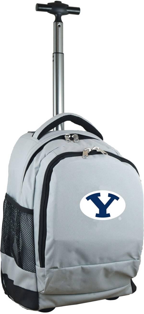 Mojo BYU Cougars Wheeled Premium Grey Backpack product image