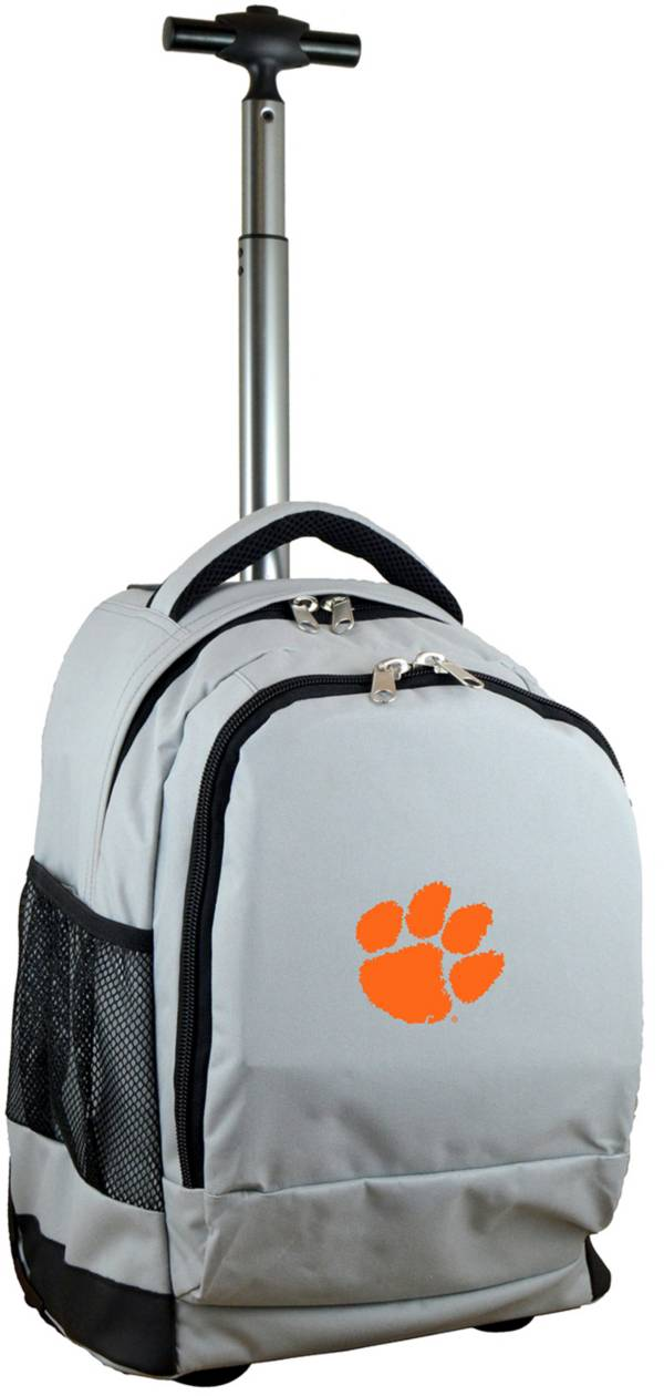 Mojo Clemson Tigers Wheeled Premium Grey Backpack product image