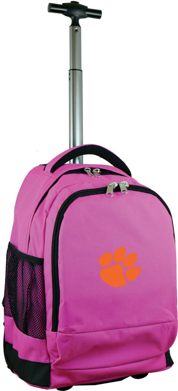 Mojo Clemson Tigers Wheeled Premium Pink Backpack product image