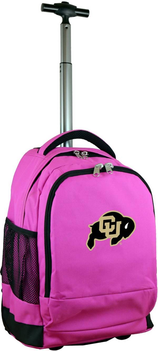 Mojo Colorado Buffaloes Wheeled Premium Pink Backpack product image