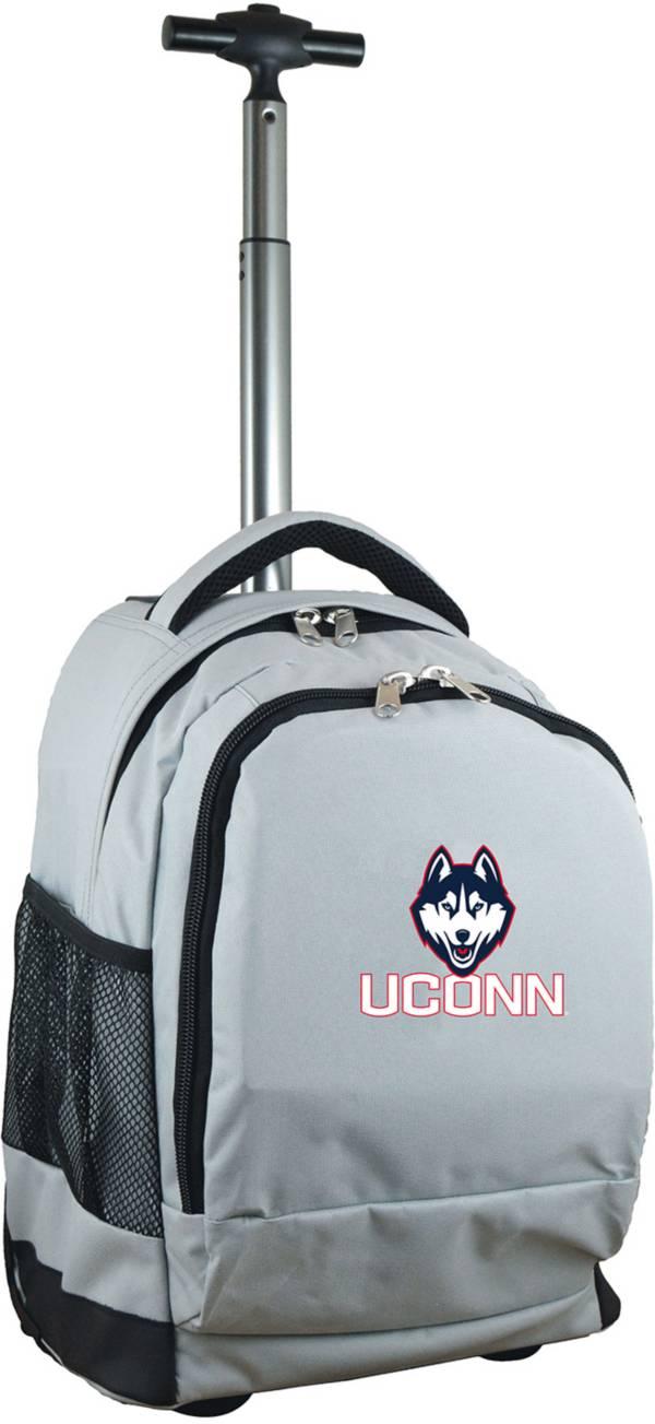 Mojo UConn Huskies Wheeled Premium Grey Backpack product image