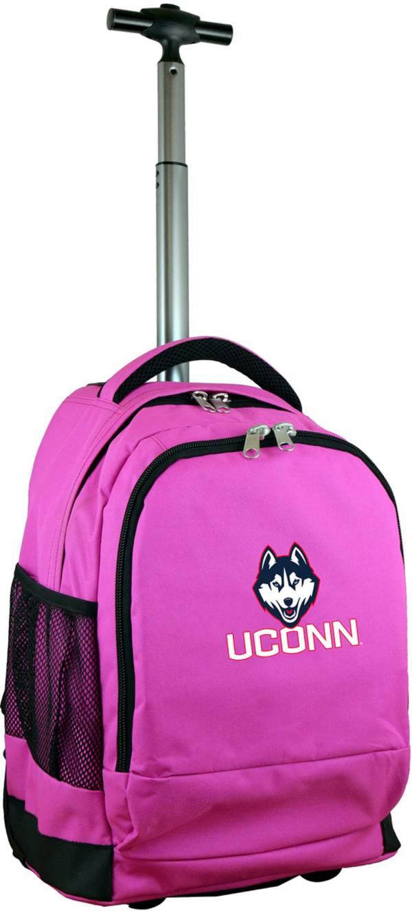 Mojo UConn Huskies Wheeled Premium Pink Backpack product image