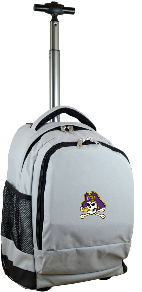 Mojo East Carolina Pirates Wheeled Premium Grey Backpack product image