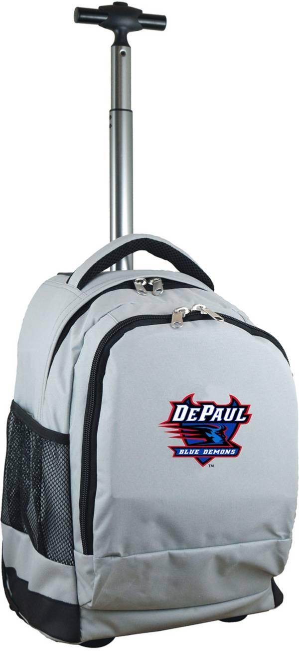Mojo DePaul Blue Demons Wheeled Premium Grey Backpack product image