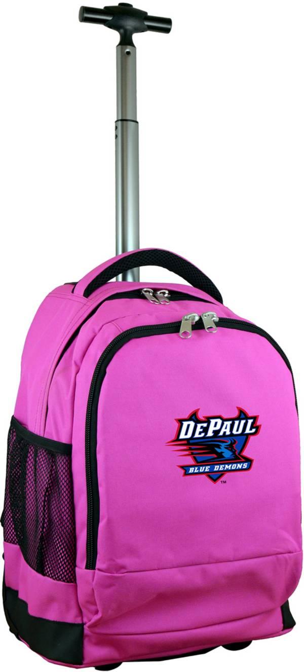 Mojo DePaul Blue Demons Wheeled Premium Pink Backpack product image