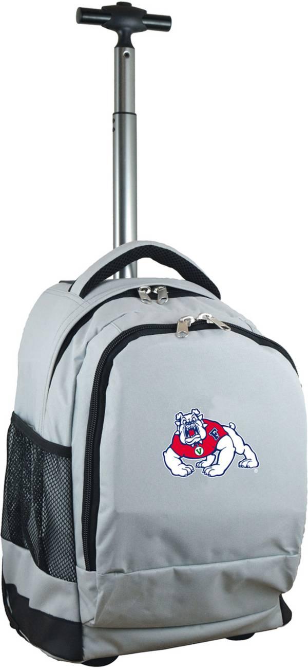 Mojo Fresno State Bulldogs Wheeled Premium Grey Backpack product image