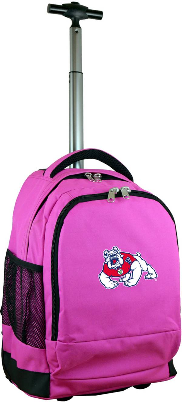 Mojo Fresno State Bulldogs Wheeled Premium Pink Backpack product image