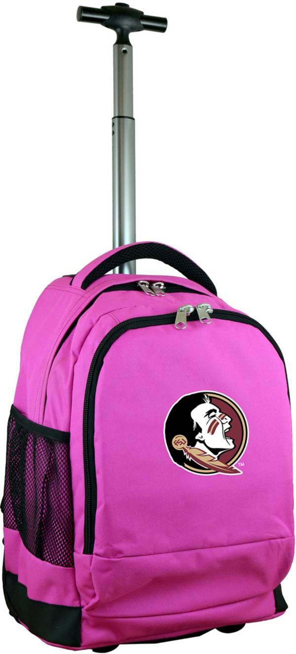 Mojo Florida State Seminoles Wheeled Premium Pink Backpack product image
