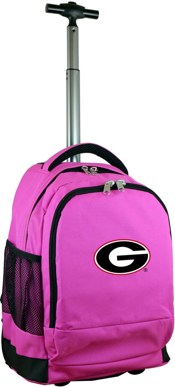 Mojo Georgia Bulldogs Wheeled Premium Pink Backpack product image
